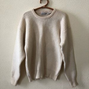 NWT Vintage Hardy Amies Wool Sweater XL